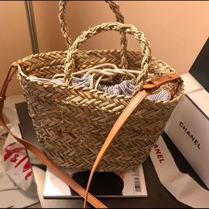 H&M STRAW BASKET CROSSBODY BAG
